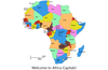 Touch an African country to see its capital city.