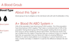 blood type sector to get user more in detail about blood type