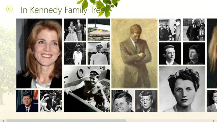 Photo gallery for family tree