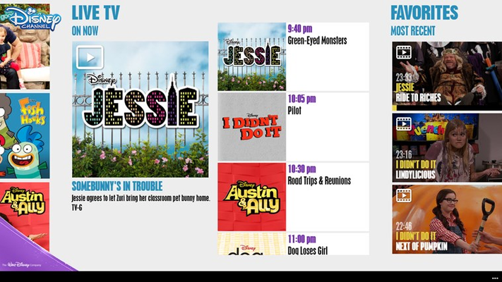 WATCH shows live on your mobile device.