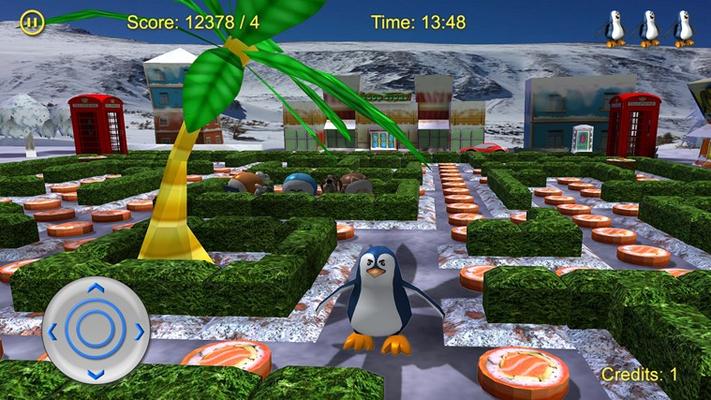 Find his way through maze after maze.
