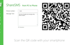 Scan the generated QR code with any QR reader in your smartphone to share the text message to your messaging app..