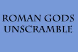 Roman Gods Unscramble