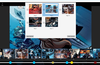 Bookmark manager with thumbnail preview and integrated into the scrollbar (blue circles)