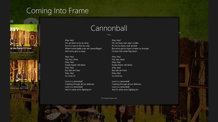 View track lyrics