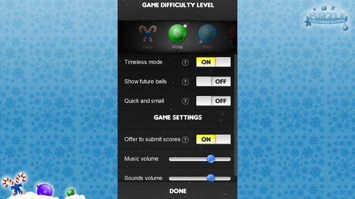 Choose from different game modes and difficulties!