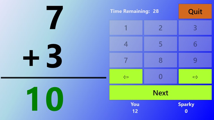 An upgrade lets users play against the clock, another player, or Sparky.