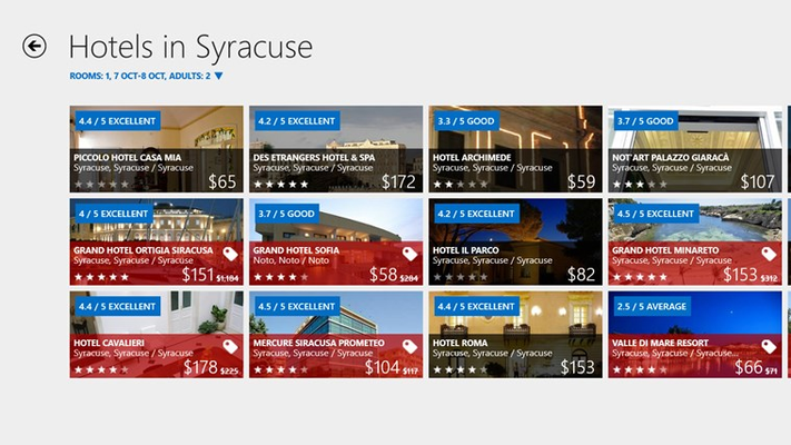 Hotels.com for Windows 8