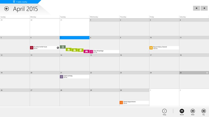 View your time-sensitive tasks on a convenient calendar and sync your items with Outlook.
