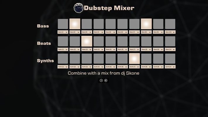 You can tap on the buttons of the pad to start mixing music