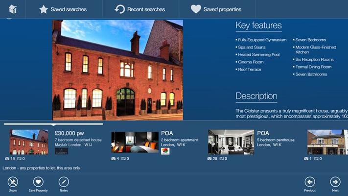Property details app bar