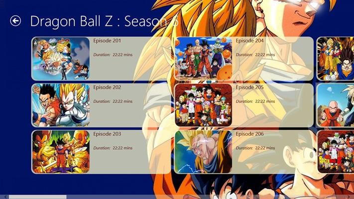 episode list displayed
