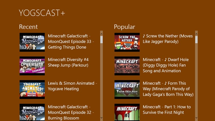 YOGSCAST+ for Windows 8