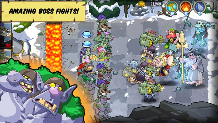 Fight the mighty Nordic Gods like Thor or Odin in intense and fun battles!