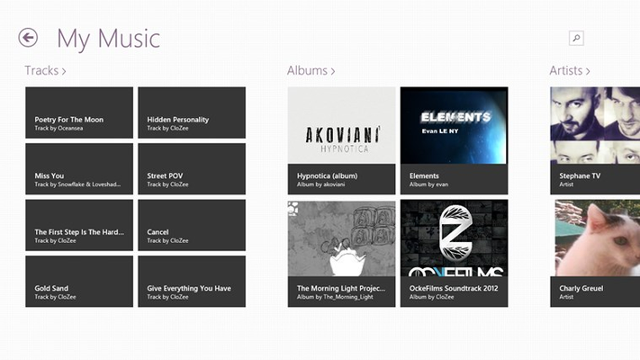 Sign in, create and retrieve your personnal music selection