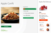 Highly interactive recipes allow you to add individual items to your shopping list.