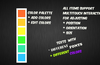 Add a color palette and notes to set your creative vision