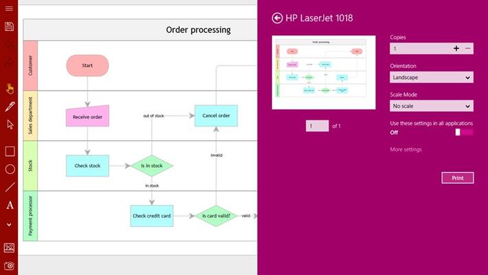 Grapholite - Diagrams, Flow Charts and Floor Plans Designer for Windows 8