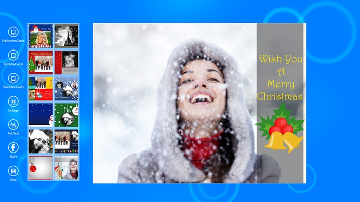 Create and send cards using your photos.