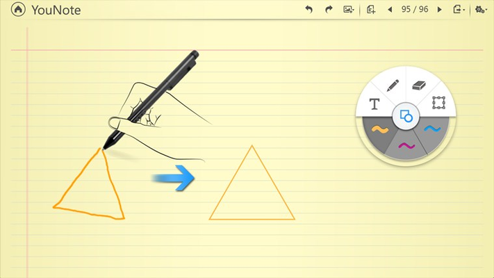 Create perfect shapes every time with YouNote's innovative Draw-to-Shape feature that recognizes and corrects any common shapes you draw.