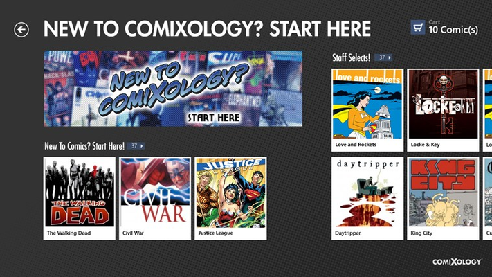 New To Comics View