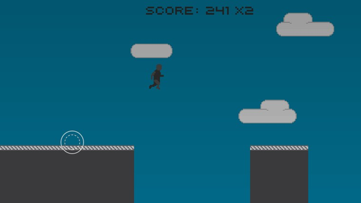 Press the up arrow or slide the joystick up to jump