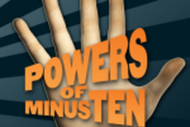 Powers of Minus Ten
