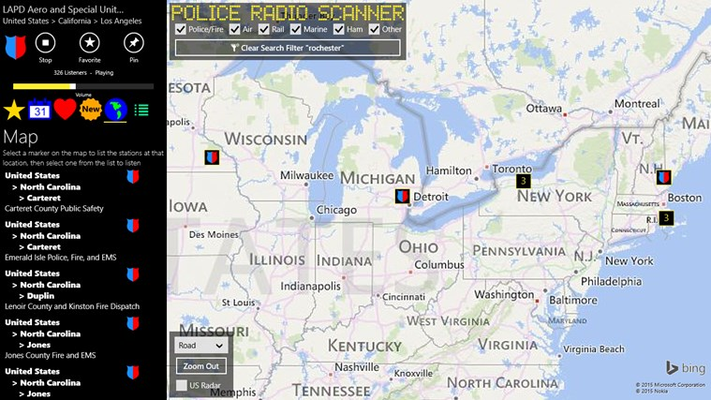 Police Radio Scanner for Windows 8