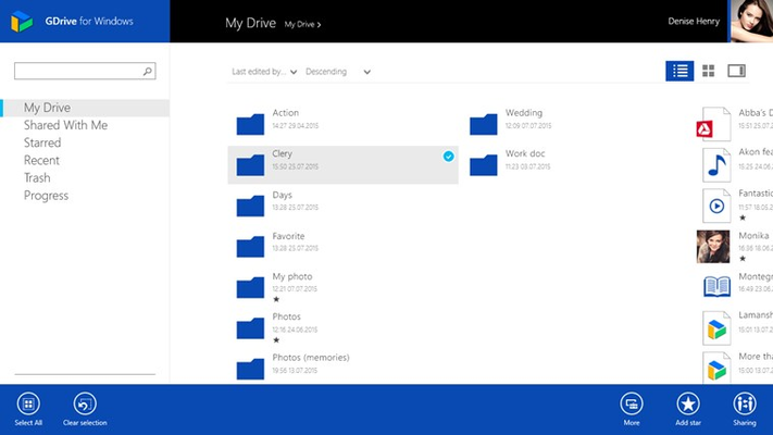 Manage your files and folders with GDrive for Windows