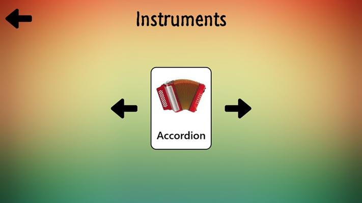Instrument flashcard.