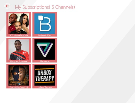 Here you can manage( e.g: unsubscribe) your subscriptions. We will add the possibility to search for channels from here