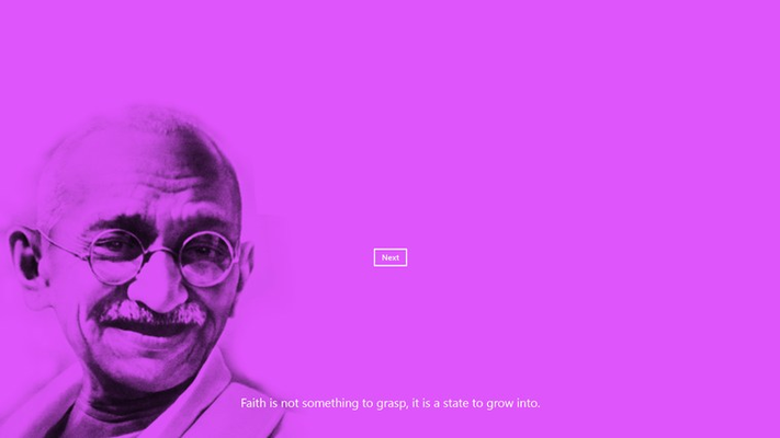 Read the most famous quotes of Gandhi.