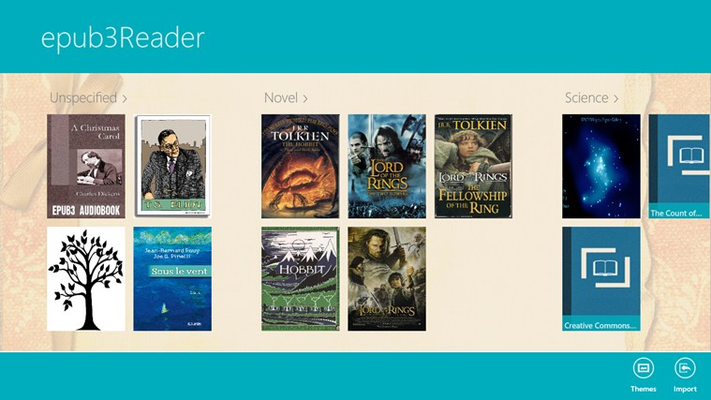 Main category, where user to manage their book by dragging and dropping to re-arrange the books