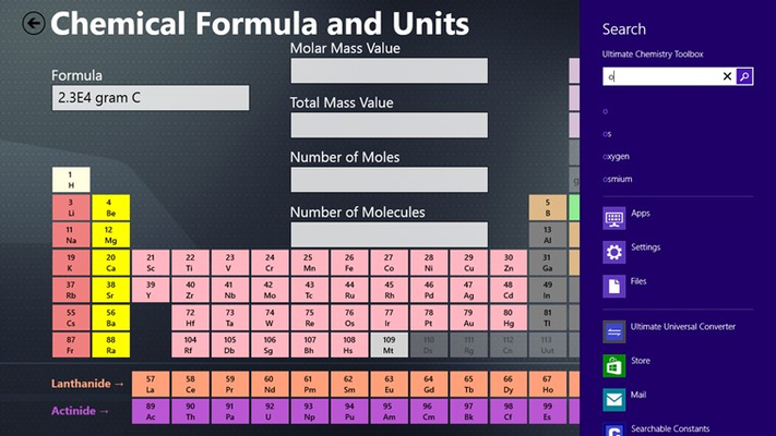 When entering the compound formula, you can either press on the elements in the periodic table or start typing to search.  Search will suggest.