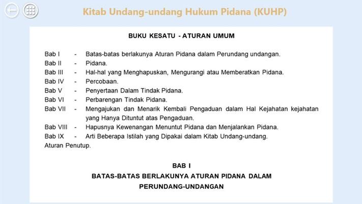 Terdapat beberapa kitab perundang-undangan yang berlaku di Indonesia, dan salah satunya adalah kitab Undang-undang yang mengatur masalah hukum pidana.