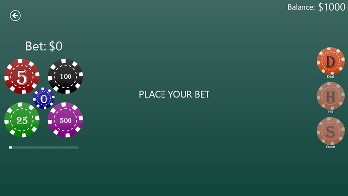 BlackjackFree for Windows 8