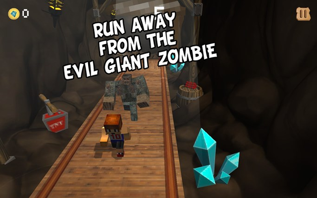 Run away from the evil giant zombie