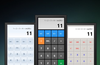 Works as basic calculator in portrait mode