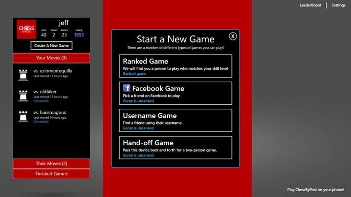 Let the game pair you with an opponent of similar skill to your own, or challenge your friends
