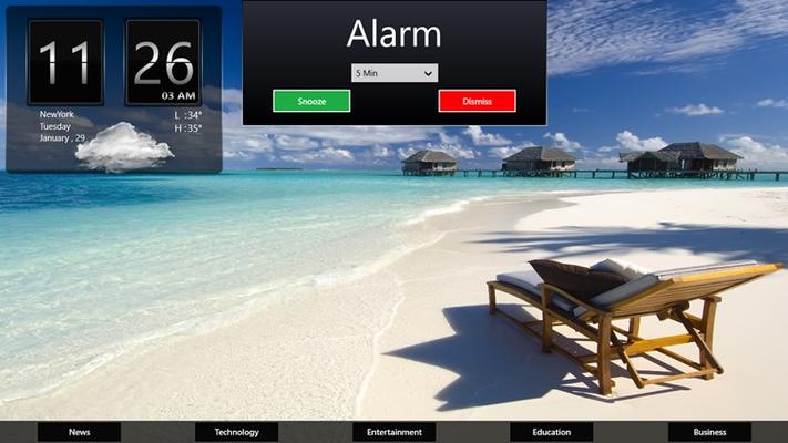 Alarm popup