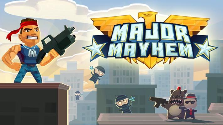 Major Mayhem cover banner.