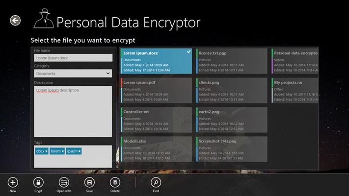 Files encryption