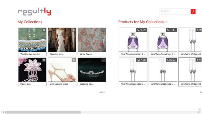 Main Hub - Gives you a quick Glance of the Latest Products in Your Collections
