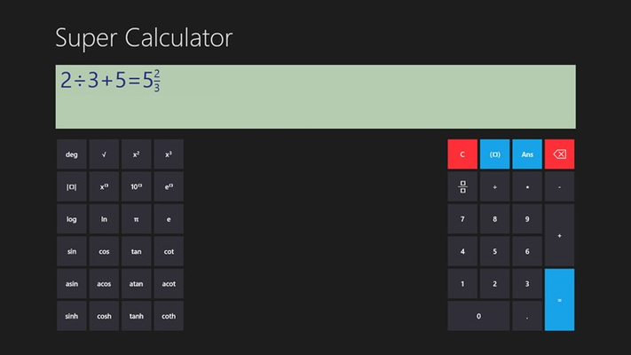 Solve easy ones too. Switch result display to other modes.