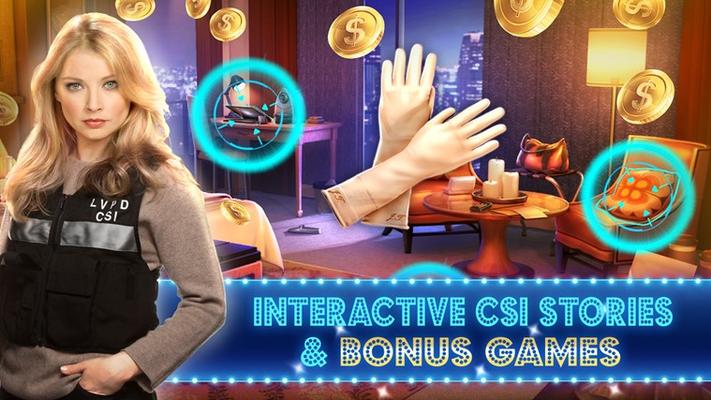 Interactive CSI stories & bonus games