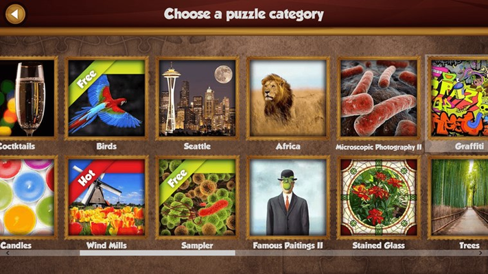 More than 50 categories, including art, animals and many others