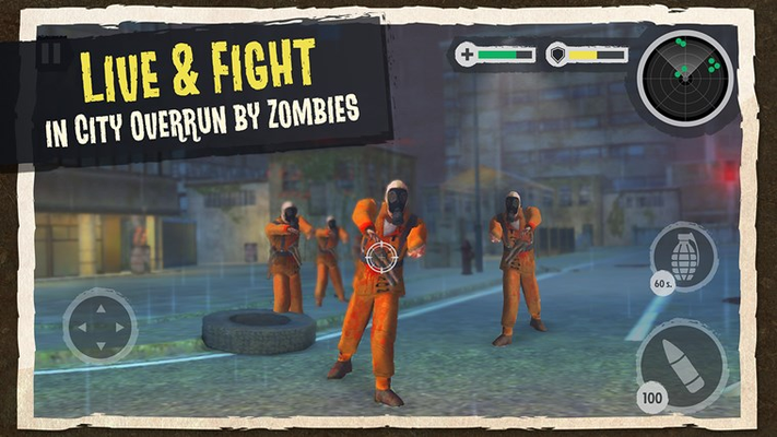 Live & fight in city overrun by zombies
