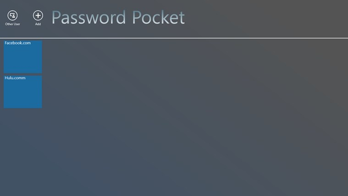 This is the user home page where the users will be able to see their passwords.