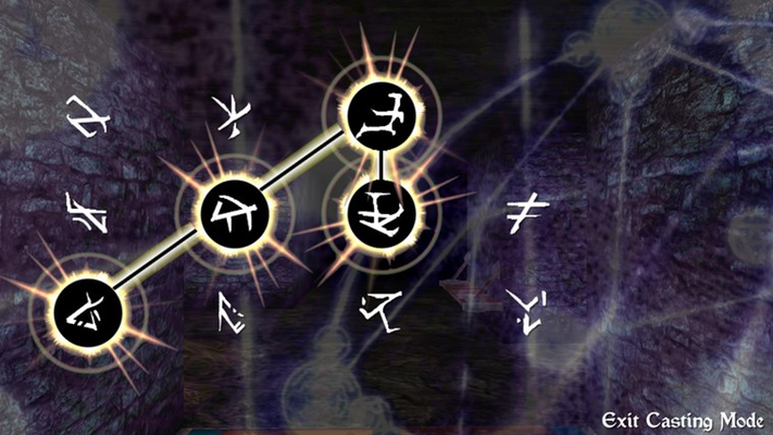 Connect magic symbols to cast powerful spells!