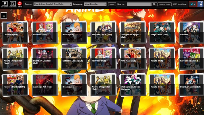 Select from over 5000 shows and from multiple anime sources!